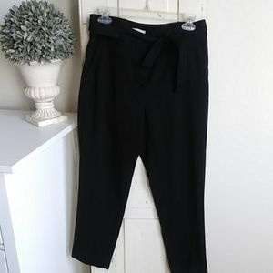 Belted dress pants